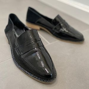 KDB Kelsi Dagger Black Leather Woodside Loafer 9.5
